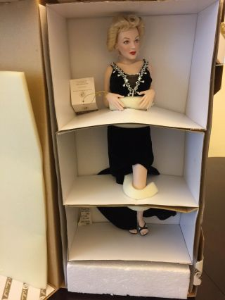 Franklin Marilyn Monroe Irresistible Rare Porcelain Doll Nrfb