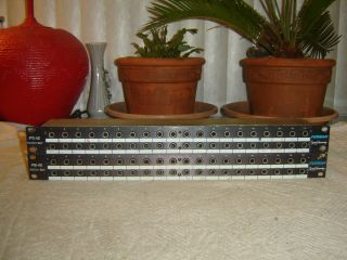 "Furman Pb - 40p,  1/4 "" In/out Patch Bay,  40 Point,  Vintage Rack,  Pair"