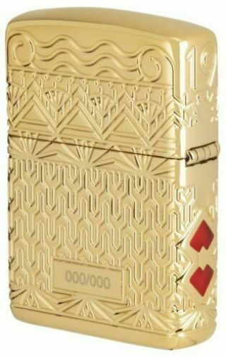 Gold Art Deco Design Collectible Zippo Only 750 Rare And Limited Exclusive