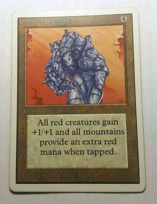 Gauntlet Of Might Unlimited Magic The Gathering Mtg Card Artifact Rare