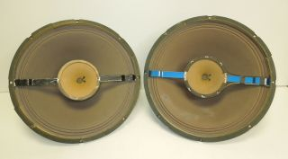 "Vintage Oxford 15 "" Coaxial Speakers Duplex Drivers Alnico"