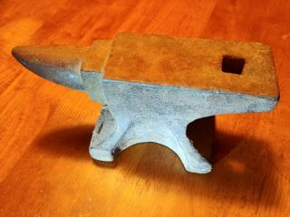 Antique Vintage Old Small Jewelers / Blacksmiths Bench Anvil