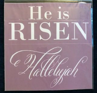 ", Extremely Rare,  Retired,  Vhtf Chalk Couture "" He Is Risen "" Transfer"