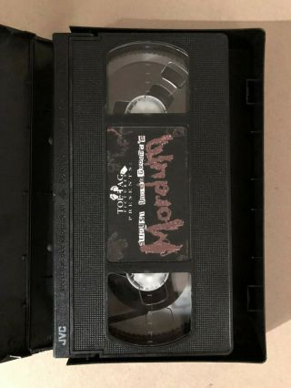 August Underground ' s Mordum VHS rare w/ collectors pack 3