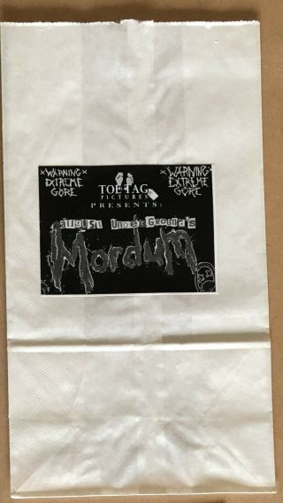 August Underground ' s Mordum VHS rare w/ collectors pack 4