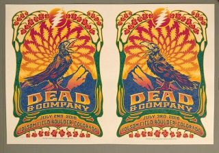 Dead & Company Boulder 2016 Ultra Rare Uncut Poster For Both Shows Hand Numbered