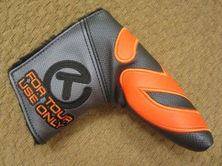 Scotty Cameron Tour Only Grey & Orange Industrial Circle T Headcover - Rare