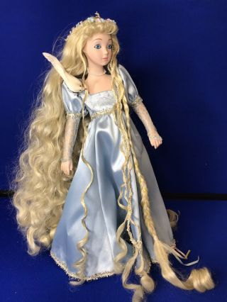 Design Debut Rare Porcelain Doll Rapunzel Vintage Collectible 19 ""