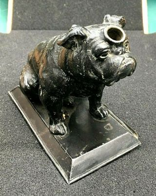 1916 Extremely Rare Ronson Sitting Bulldog 3 Known Striker Lighter.
