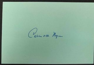 Rare - Carroll Nye Vintage Autograph - Gone With The Wind