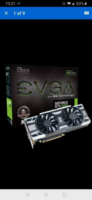 Evga Geforce Gtx 1080 Gaming Icx 8gb Gddr5x - Rare -.