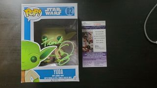 Frank Oz Rare Star Wars Signed Funko Pop Back Yoda With From Jsa