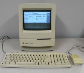 Vintage Apple Macintosh Mac Computer Model M1420 With Keyboard And Mouse