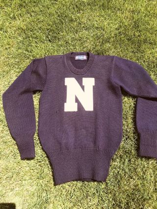 Antique Letter Sweater N Spalding Northwestern Vintage Baseball