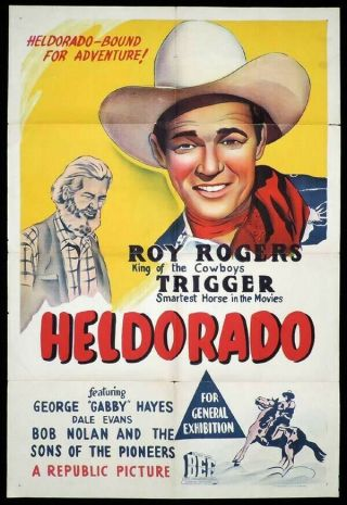 Vintage Movie 16mm Heldorado Feature 1946 Film Western Roy Rogers
