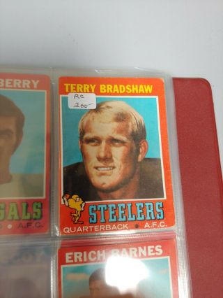 Old Vintage Football Cards Partially Complete Set 1971 Topps Incl Bradshaw Rc