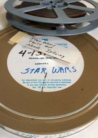 16mm Trailer Star Wars Vintage Film 1977 Movie Sci - Fi Episode Iv