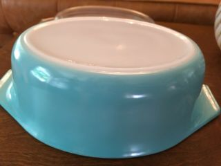 Rare Htf Vintage Pyrex Solid Turquoise 043 First Production Of The 043 Unmarked