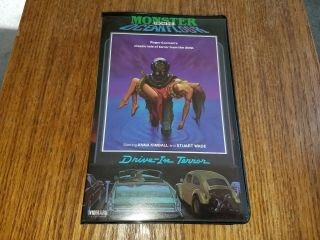 Monster From The Ocean Floor Vintage Horror Drive In Terror Vhs Tape Very Rare