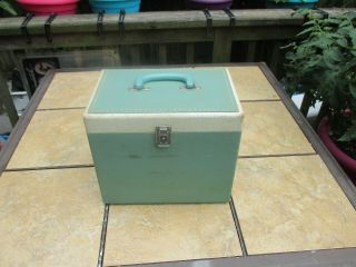 Vintage Green Featherweight Case For The White Singer Featherweight