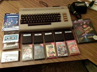 Vintage Commodore 64 - And - Includes Games And Power Pack