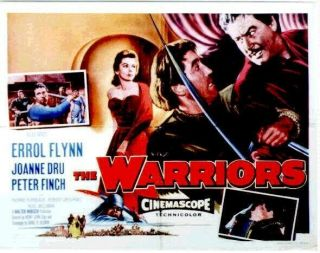 16mm The Warriors Feature Movie Vintage 1955 Errol Flynn Adventure Film