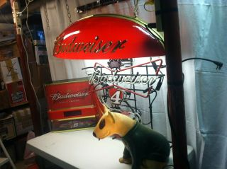 Vintage Rare 1986/88 Spuds Mackenzie Dog Bud Light Up Bar Lamp -