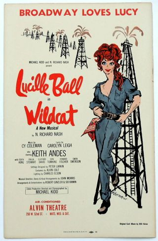 Triton Offers Rare 1960 Broadway Poster Wildcat Lucille Ball Musical