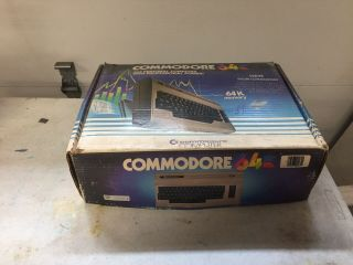 Vintage Commodore 64 Personal Computer With Power Cord