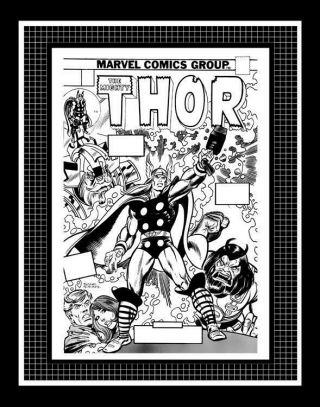 Gil Kane Thor 239 Rare Production Art Cover Monotone
