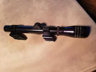 Vintage Find Redfield 2 3/4 Tv Widefield Rifle Scope With Shoot - Thru Rings