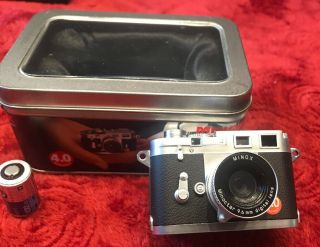 Vintage Leica M3 Subminiature Film Camera By Minox W/box,  Papers
