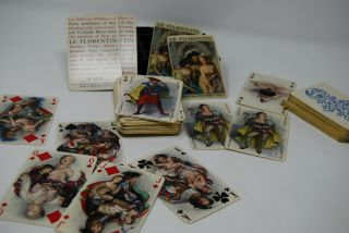 Vintage 2 Deck Le Florentin Philibert French Playing Cards Risque Nude Becat