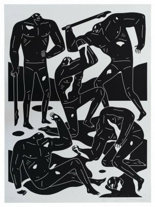 Mercenaries By Cleon Peterson Screen Print Rare Poster Obey Giant Shepard Fairey