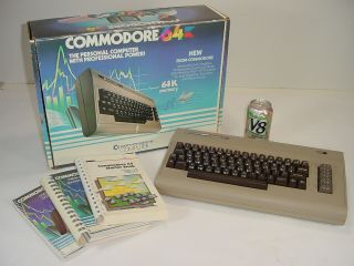 Vintage Commodore 64 Personal Computer With Manuals