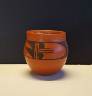 Hopi Pottery,  Vintage Redware,  Small Pot,  Signed,  Awesome Piece