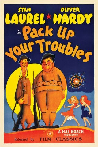 16mm Pack Up Your Troubles Feature Movie Vintage 1932 Laurel & Hardy
