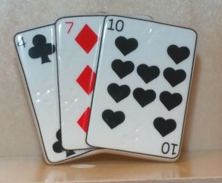 Nora Fleming Retired Mini Playing Cards/rare Vhtf Black Hearts - Perfect A81