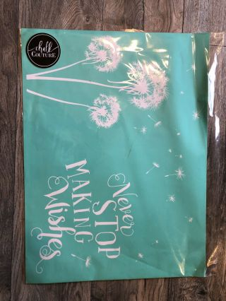 """Chalk Couture """"never Stop Making Wishes"""" Retired - Rare - Never Opened"""