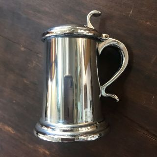 Vintage Chrome Plated Dunhill Tankard Table Lighter Made In England C1949 Rare
