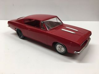 Vintage Amt 1967 Plymouth Barracuda Dealer Promotional Model Promo Toy Car (red)