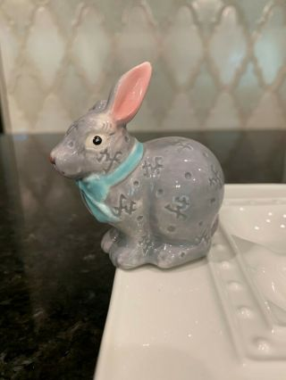 Nora Fleming Mini Bunny Rabbit Retired Rare Nf Initials - -