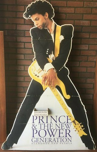 Vintage 1992 Prince Diamonds And Pearls Paisley Park Life Size Standee 5