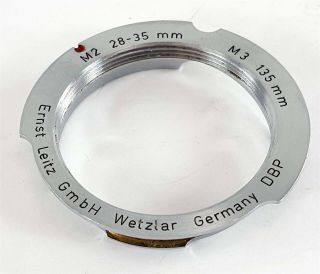 Vintage Leitz Wetzlar Germany Leica Bayonet Adaptor M2 28 - 35 And M3 135 Germany