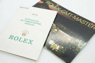 Vintage Rolex Gmt Master Instruction Book / Booklet And Papers C1999 $1 N/res