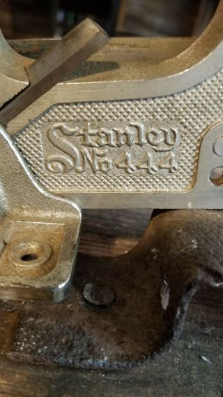 Stanley No.  444 Dovetail Tongue & Groove Plane.  See Photos For.  Rare