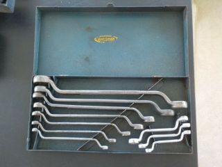 Vintage Craftsman Rare Complete 1939 - 1940 45 Degree Offset Box End Wrench Set