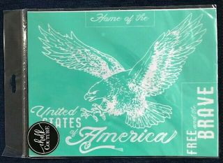 Retired Beyond Rare United States Eagle Chalk Couture Transfer Stencil