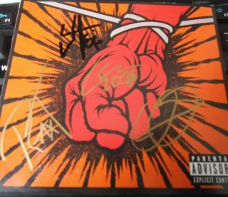St Anger Signed Metallica Cd Autographed Rare Fully