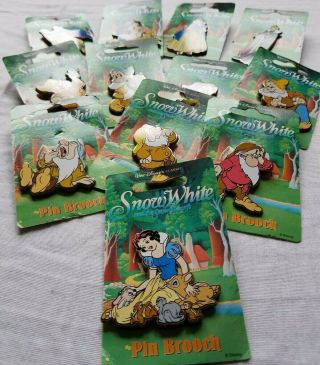Vintage Disney Pins - Snow White And The Seven Dwarfs Pins - - All 12 Collector Pins